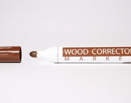 Marcador para retoque de madera